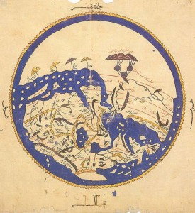 World map drawn by a Muslim scholar a 1000 years ago